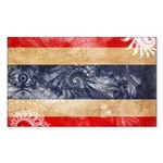 Thailand Flag Sticker (Rectangle 10 pk)