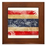 Thailand Flag Framed Tile