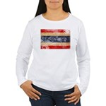 Thailand Flag Women's Long Sleeve T-Shirt