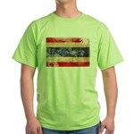 Thailand Flag Green T-Shirt