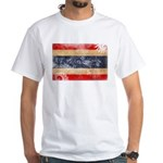 Thailand Flag White T-Shirt