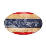 Thailand Flag 38.5 x 24.5 Oval Wall Peel