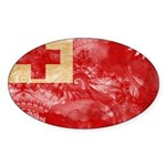 Tonga Flag Sticker (Oval 50 pk)