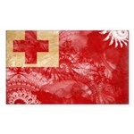 Tonga Flag Sticker (Rectangle)