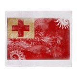 Tonga Flag Throw Blanket