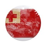 Tonga Flag Ornament (Round)