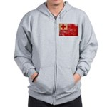 Tonga Flag Zip Hoodie