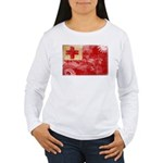 Tonga Flag Women's Long Sleeve T-Shirt