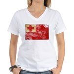 Tonga Flag Women's V-Neck T-Shirt