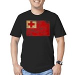 Tonga Flag Men's Fitted T-Shirt (dark)