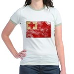Tonga Flag Jr. Ringer T-Shirt