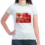 Tonga Flag Jr. Ringer T-Shirt