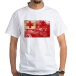 Tonga Flag White T-Shirt