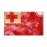 Tonga Flag 22x14 Wall Peel