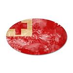Tonga Flag 22x14 Oval Wall Peel