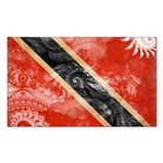 Trinidad and Tobago Flag Sticker (Rectangle 50 pk)
