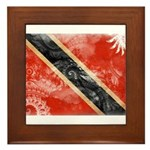 Trinidad and Tobago Flag Framed Tile