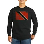 Trinidad and Tobago Flag Long Sleeve Dark T-Shirt