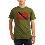 Trinidad and Tobago Flag Organic Men's T-Shirt (da