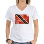Trinidad and Tobago Flag Women's V-Neck T-Shirt