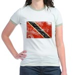 Trinidad and Tobago Flag Jr. Ringer T-Shirt