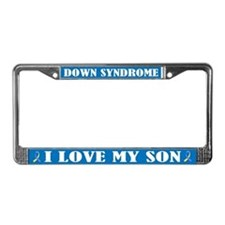 Down Syndrome Son Support License Frame