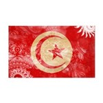 Tunisia Flag 38.5 x 24.5 Wall Peel
