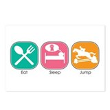 Eat Sleep Jump Postcards (Package of 8)