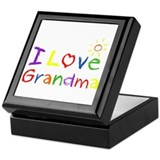 I Love Grandma Keepsake Box