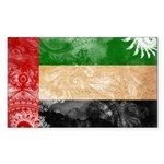 United Arab Emirates Flag Sticker (Rectangle 50 pk