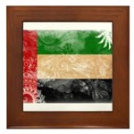 United Arab Emirates Flag Framed Tile