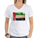 United Arab Emirates Flag Women's V-Neck T-Shirt