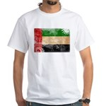 United Arab Emirates Flag White T-Shirt