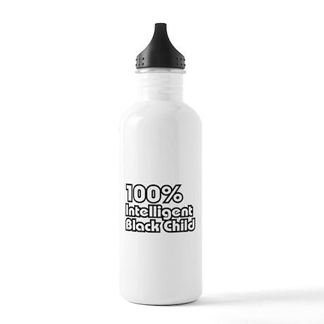 100% Intelligent Black Child Stainless Water Bottl