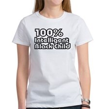 100% Intelligent Black Child Tee
