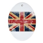 United Kingdom Flag Ornament (Oval)