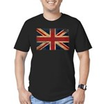 United Kingdom Flag Men's Fitted T-Shirt (dark)
