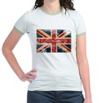 United Kingdom Flag Jr. Ringer T-Shirt
