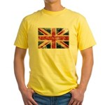 United Kingdom Flag Yellow T-Shirt