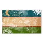 Uzbekistan Flag Sticker (Rectangle 50 pk)