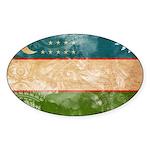Uzbekistan Flag Sticker (Oval 50 pk)