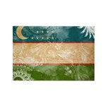 Uzbekistan Flag Rectangle Magnet (100 pack)