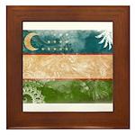 Uzbekistan Flag Framed Tile