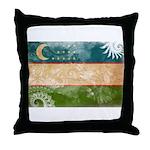 Uzbekistan Flag Throw Pillow