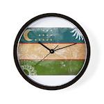 Uzbekistan Flag Wall Clock