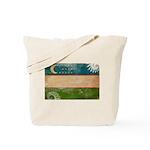 Uzbekistan Flag Tote Bag