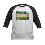 Uzbekistan Flag Kids Baseball Jersey
