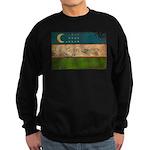 Uzbekistan Flag Sweatshirt (dark)