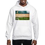 Uzbekistan Flag Hooded Sweatshirt