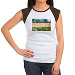 Uzbekistan Flag Women's Cap Sleeve T-Shirt